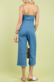Pretty Little Things Denim Tie Jumpsuit - Front full body