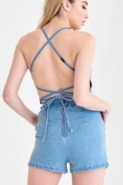 t.l.b.d. Denim Tie Romper - Product Mini Image