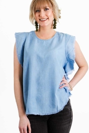 Elan Denim Top - Front cropped