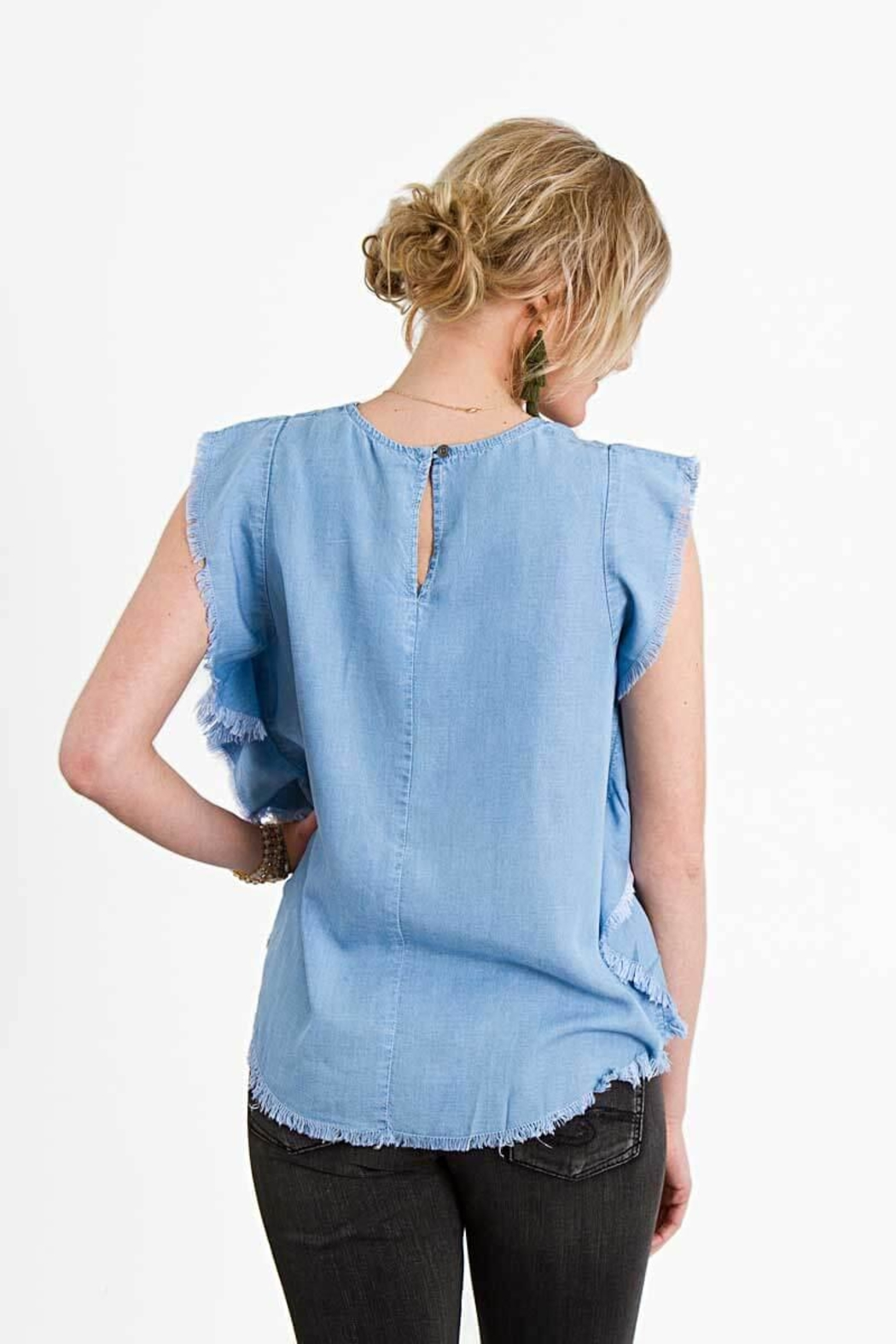 Elan Denim Top - Front Full Image