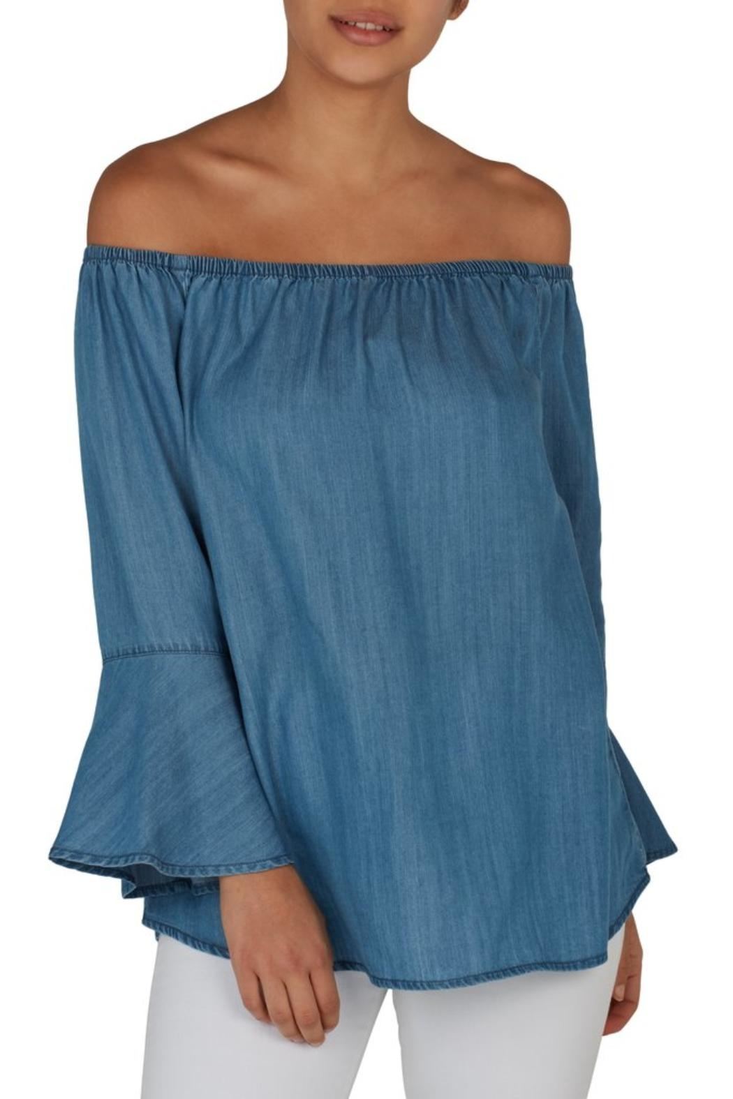 61c59c14c9 Beach Lunch Lounge Denim Top from Westhampton Beach by Chic — Shoptiques