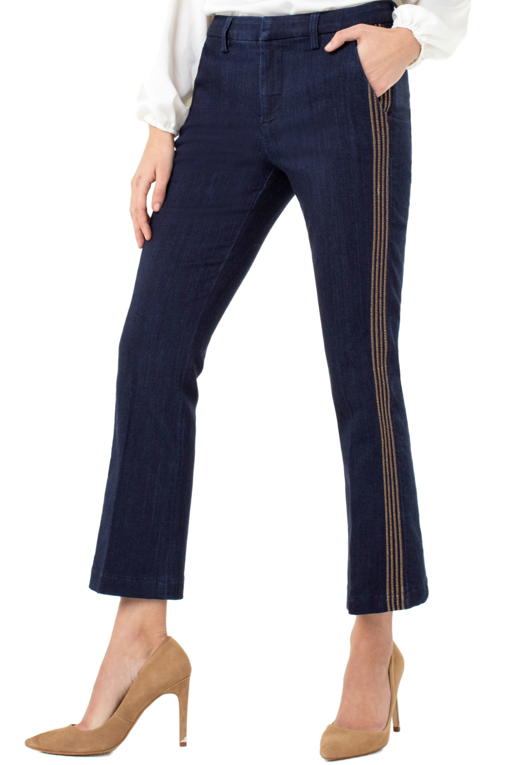 Liverpool Denim trouser with embroidery - Main Image