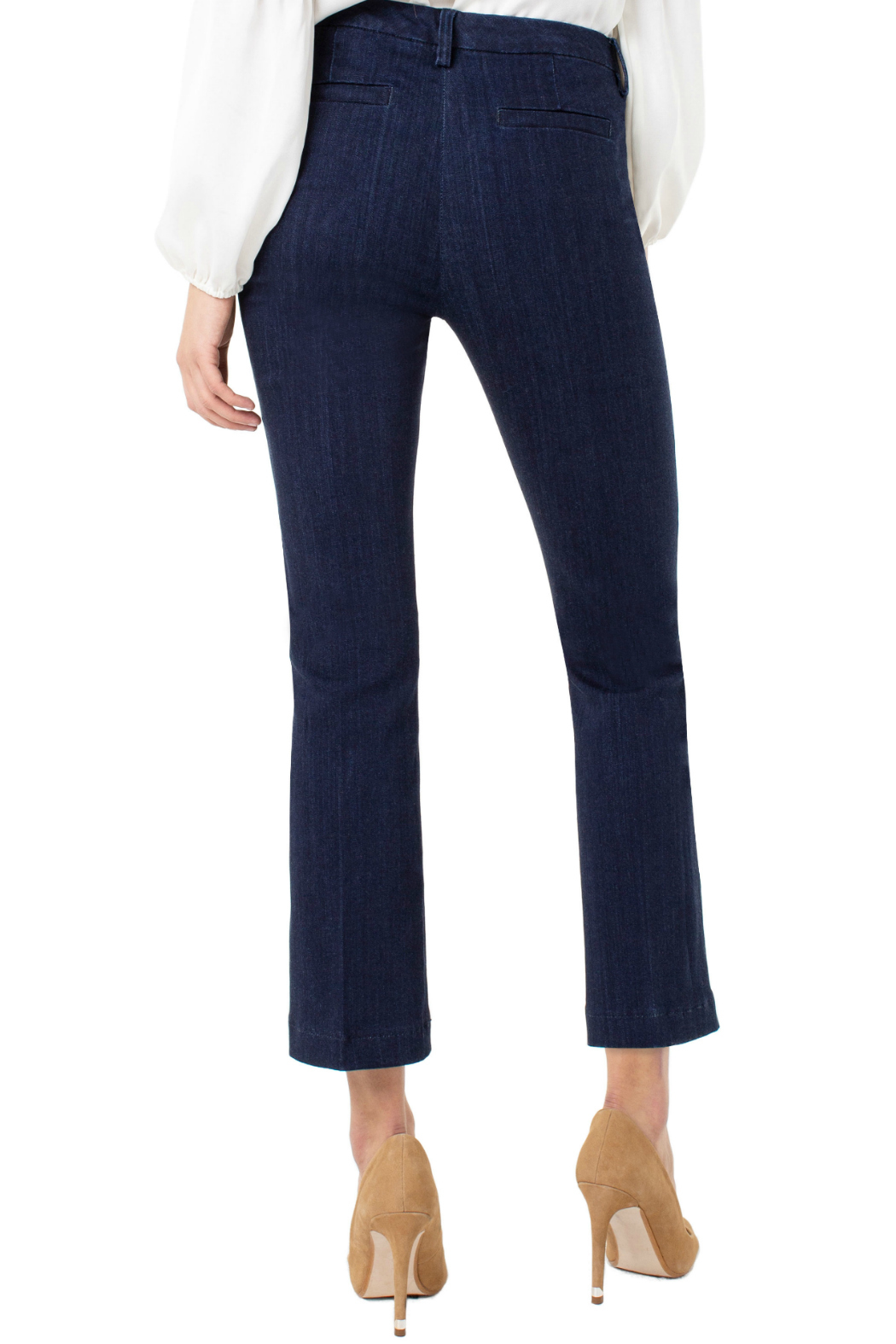 Liverpool Denim trouser with embroidery - Front Full Image