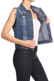 Lyn -Maree's Denim Vest - Front cropped