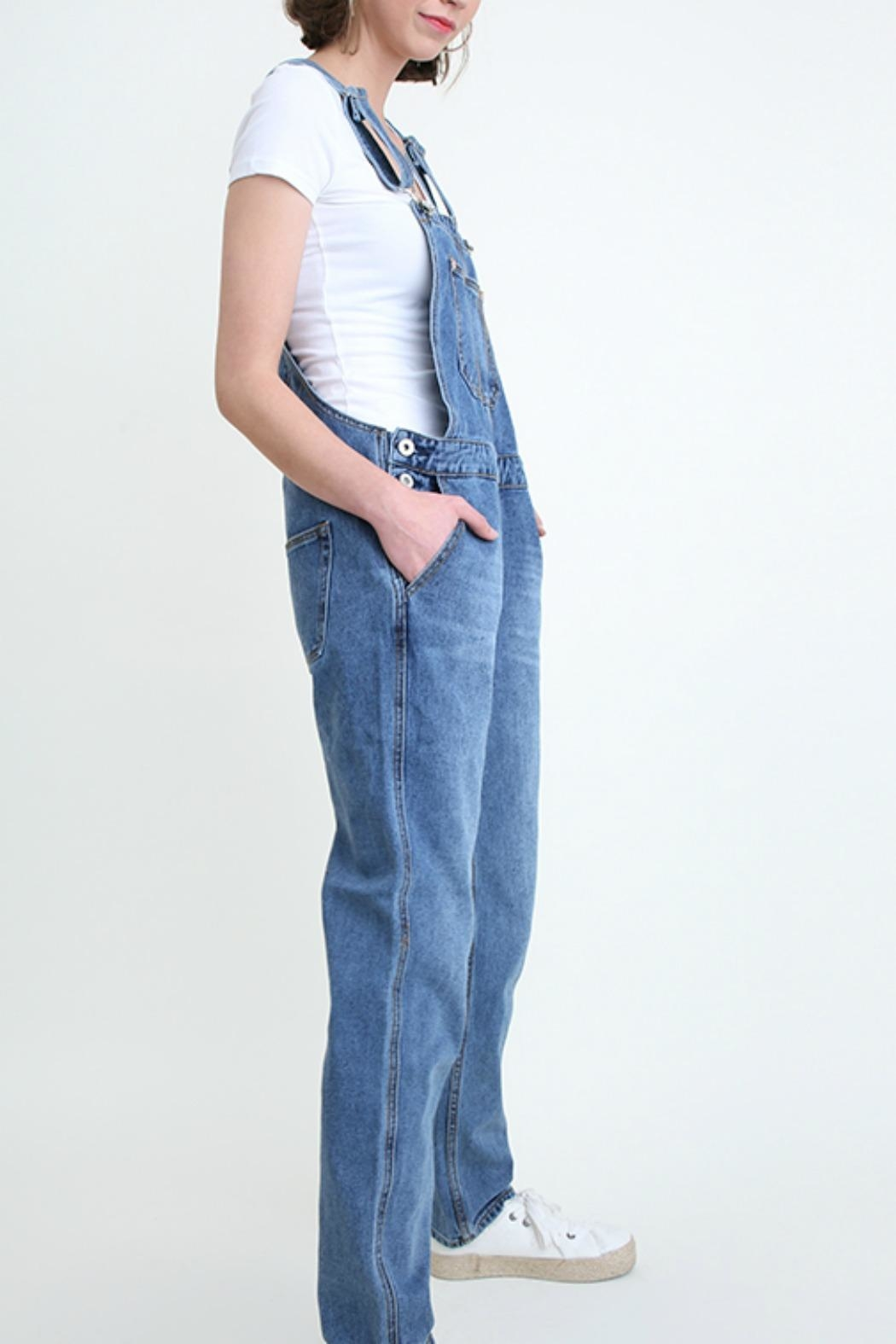 Umgee USA Denim Washed Overalls - Side Cropped Image