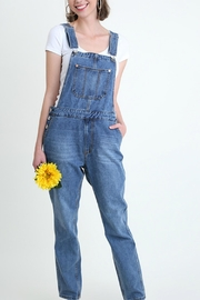 Umgee USA Denim Washed Overalls - Front cropped