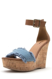 Qupid Denim Wedge - Product Mini Image