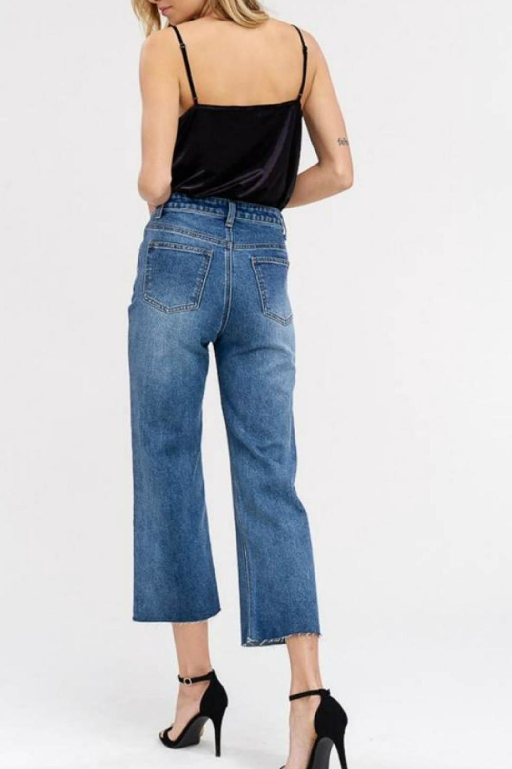 70b36b29970 Listicle Denim Wide-Leg Crop from Statesboro by Sole — Shoptiques