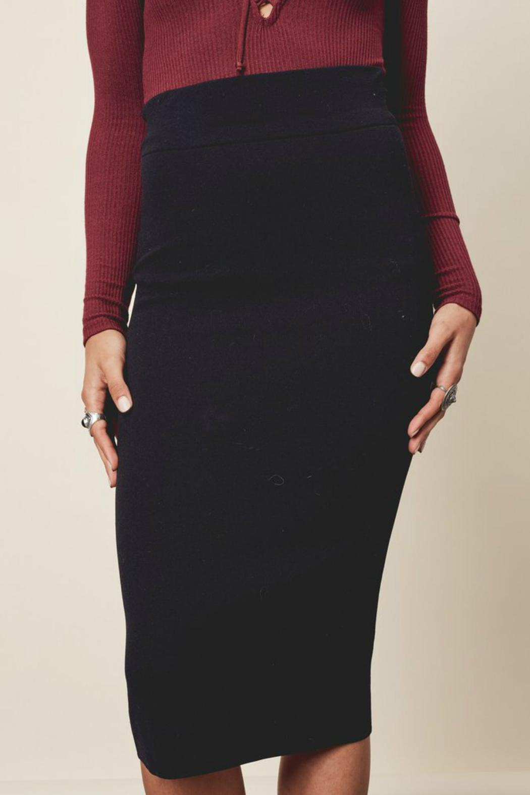 Denim Spot Adela Pencil Skirt - Front Full Image