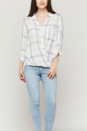 Velvet Hearts Denise Surplice Plaid Shirt - Product Mini Image