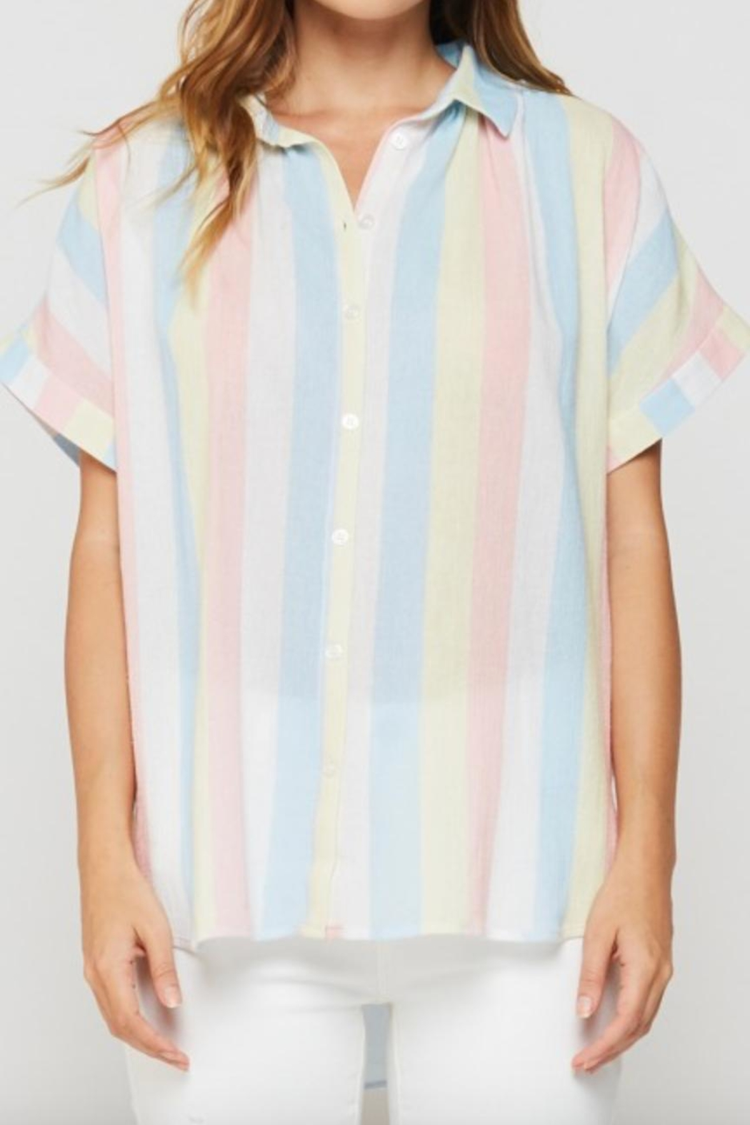 Velvet Heart Deon Pastel Blouse - Front Cropped Image