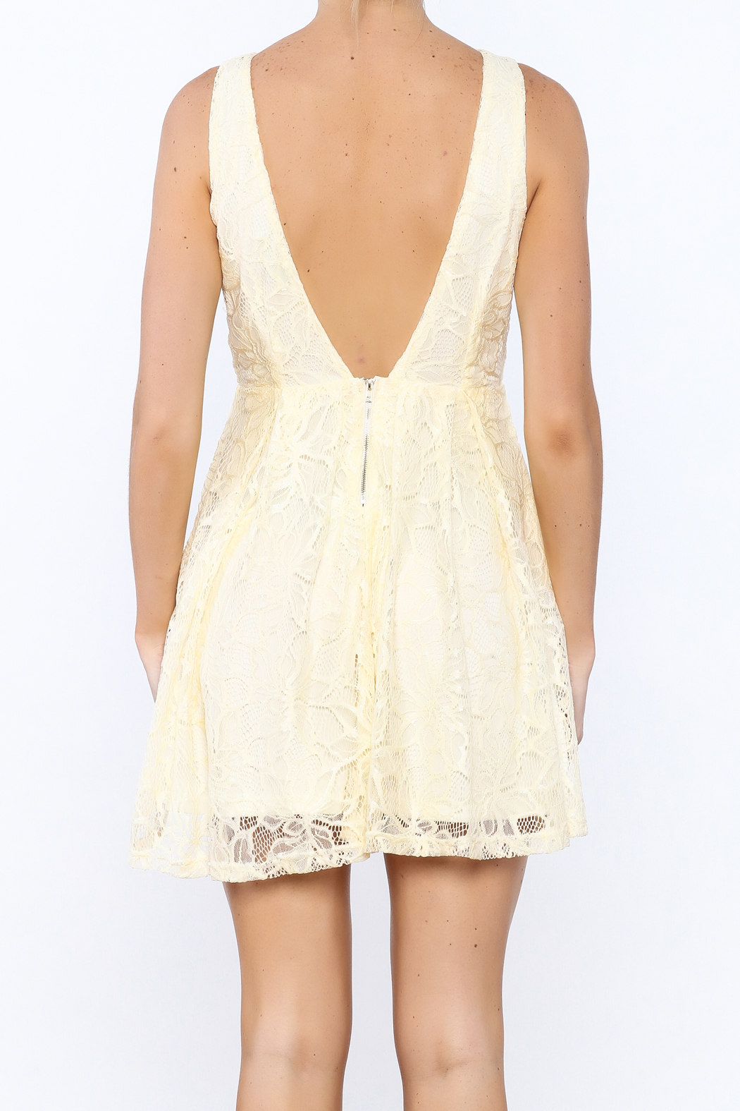 Depri Lovely Lace Dress - Back Cropped Image