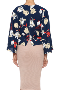 Shoptiques Product: Navy Printed Top