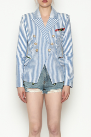 Depri Stripe Blazer - Front full body