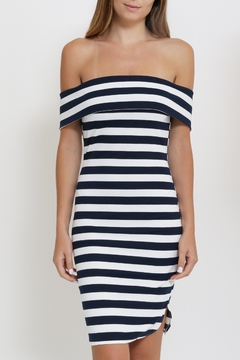 Depri Stripe Off Shoulder Dress - Alternate List Image