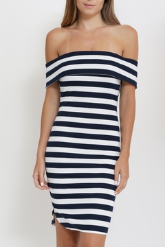 Depri Stripe Off Shoulder Dress - Product List Image