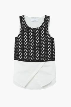 Shoptiques Product: 2-In-1 Embroidered Tank