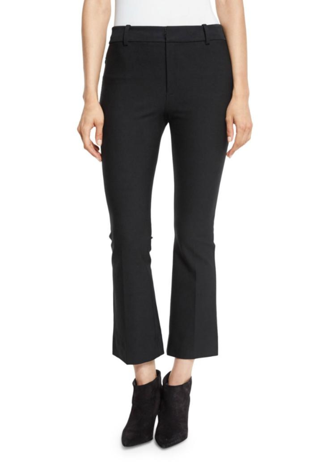Derek Lam 10 Crosby Cropped Flare Trouser - Front Full Image