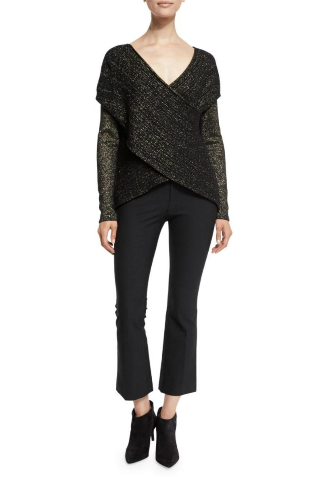 Derek Lam 10 Crosby Cropped Flare Trouser - Main Image
