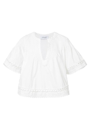 Derek Lam 10 Crosby Embroidered Pintuck Top - Back cropped