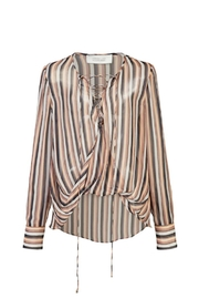 Derek Lam 10 Crosby Lace Up Blouse - Back cropped
