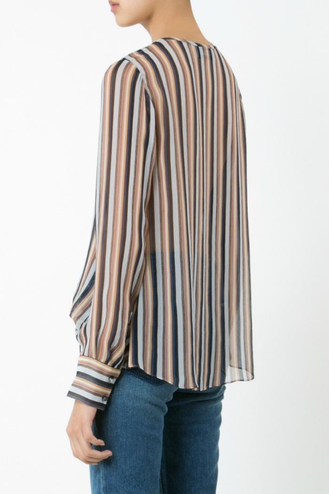Derek Lam 10 Crosby Lace Up Blouse - Front Full Image