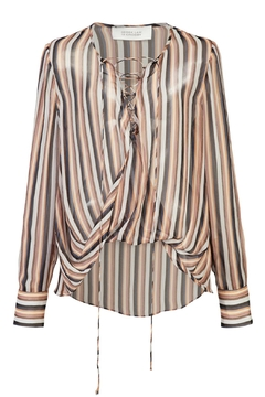 Derek Lam 10 Crosby Lace Up Blouse - Alternate List Image