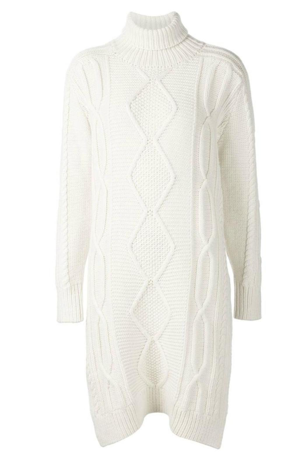 Derek Lam 10 Crosby Turtleneck Sweater Dress - Side Cropped Image