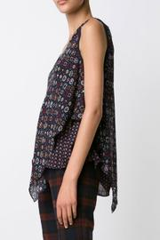 Derek Lam 10 Crosby V Neck Handkerchief Tank - Front full body