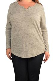 Derek plus Plus-Sized Gray Long-Sleeved-Tee - Product Mini Image