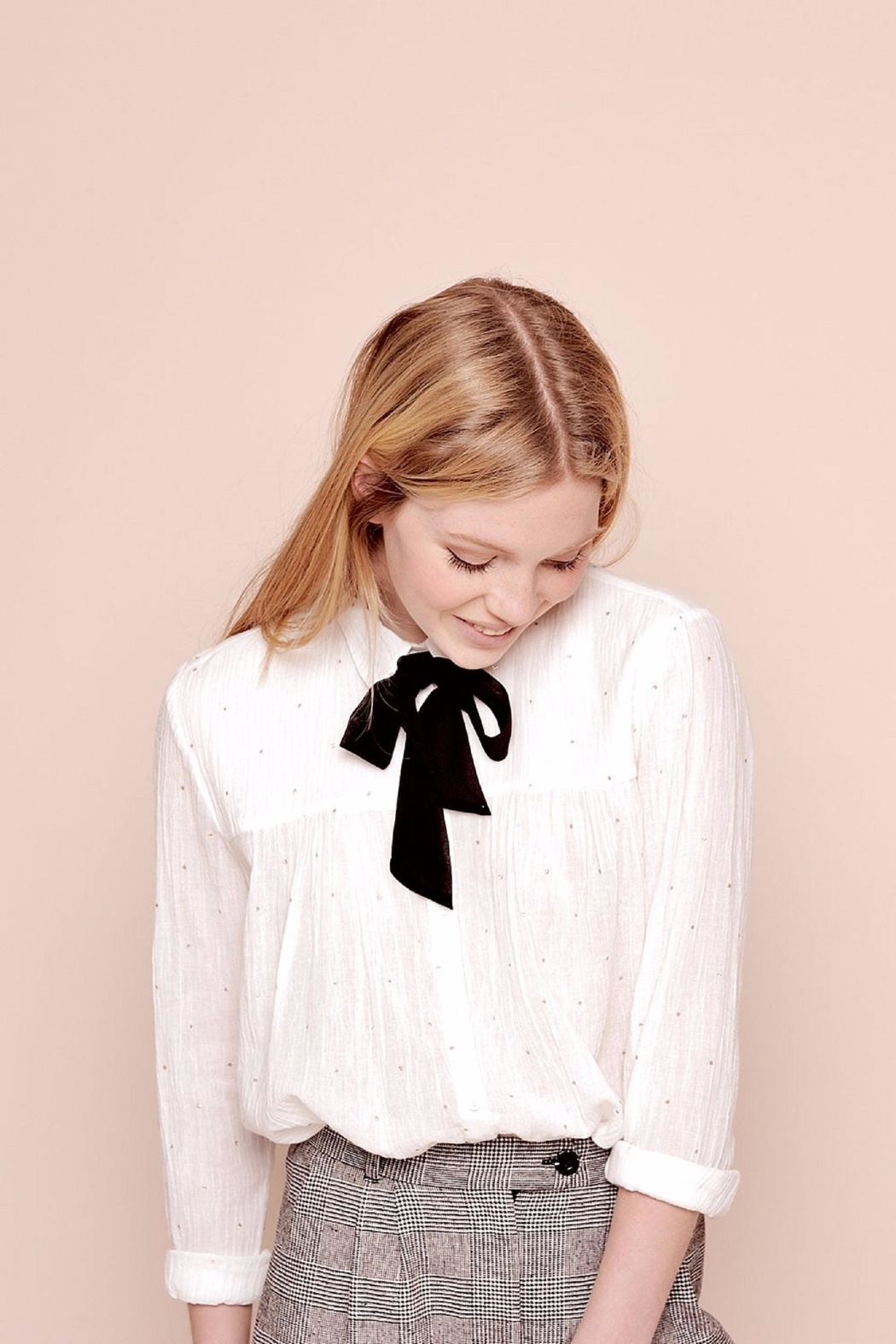 Des Petits Hauts Beautiful Dotty Blouse - Side Cropped Image
