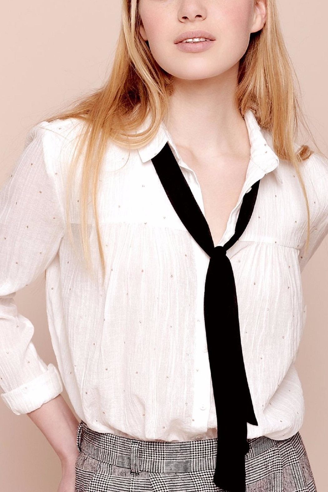 Des Petits Hauts Beautiful Dotty Blouse - Front Cropped Image