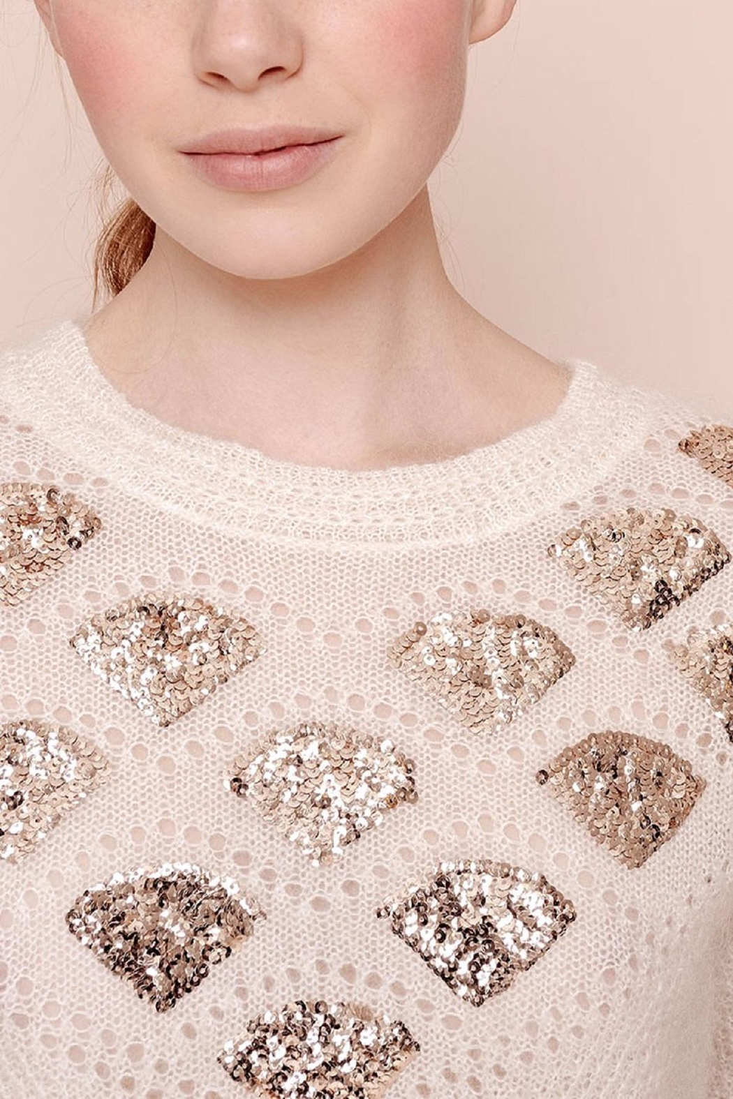 Des Petits Hauts Whimsical Pullover - Front Cropped Image