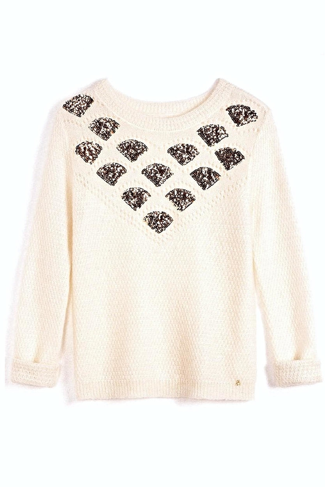 Des Petits Hauts Whimsical Pullover - Side Cropped Image