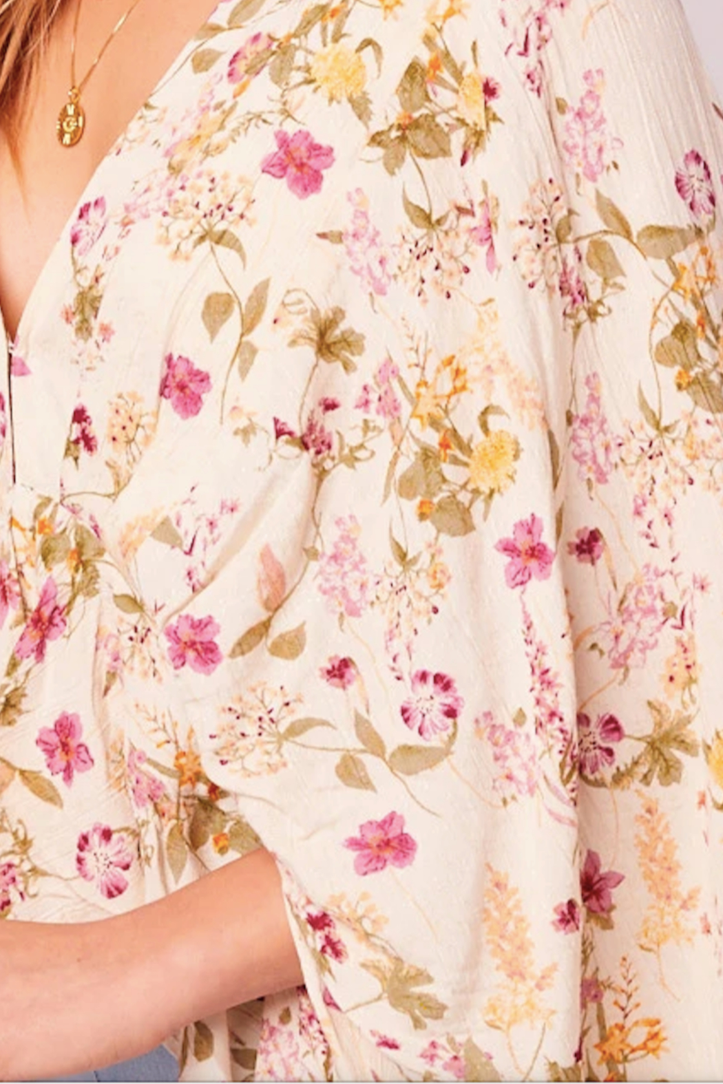 Band Of Gypsies Desert Flower Top - Back Cropped Image
