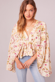 Band Of Gypsies Desert Flower Top - Front cropped