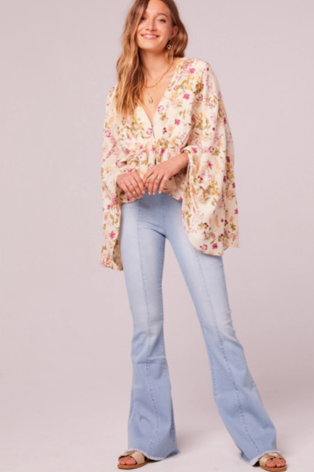 Band Of Gypsies Desert Flower Top - Side Cropped Image