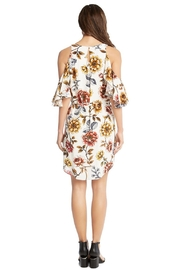 Karen Kane Desert Flowers Cold Shoulder Dress - Front full body