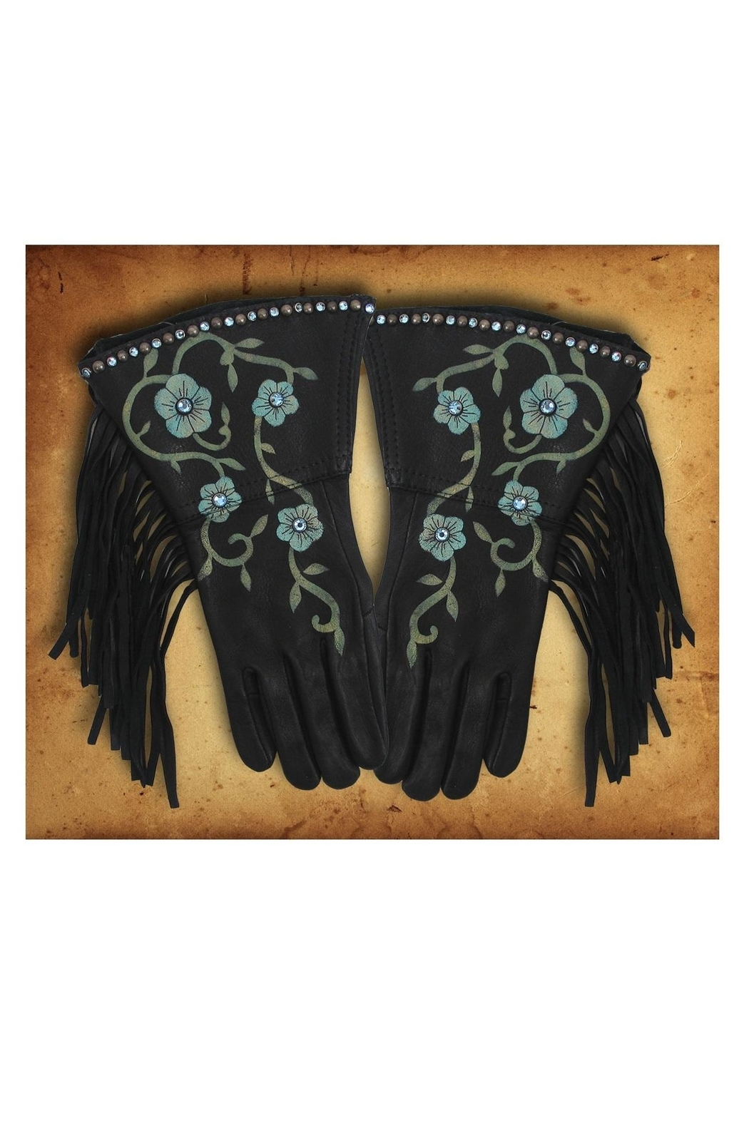 Patricia Wolf Desert Rose Riding-Gloves - Front Cropped Image