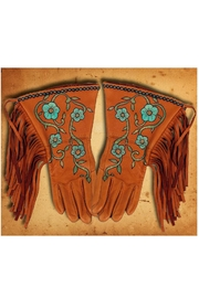Patricia Wolf Desert Rose Riding-Gloves - Front cropped