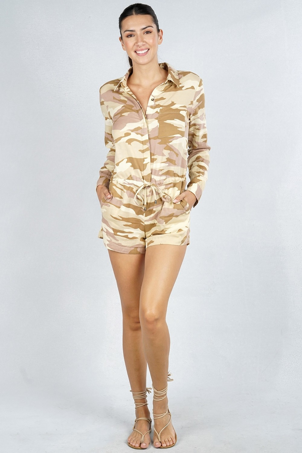 Lovestitch Desert Storm Romper - Front Cropped Image
