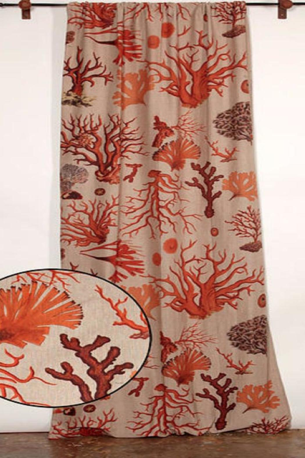 Design Legacy Coral Curtain Panel