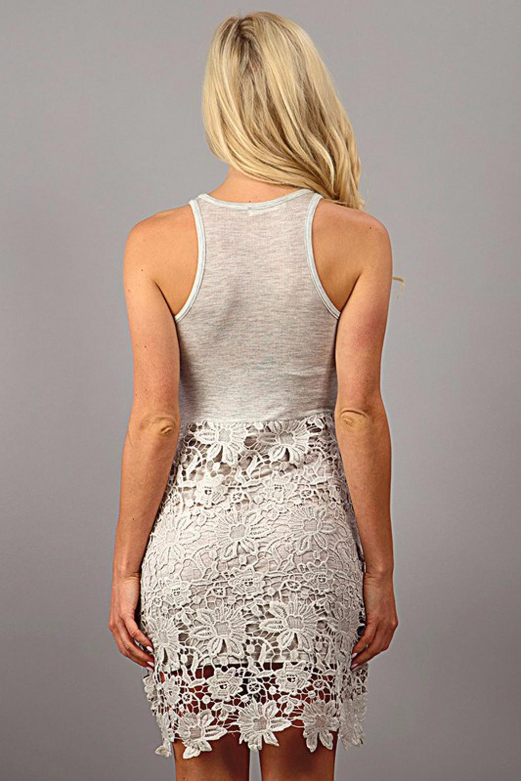 Design Recipe Champagne Lace Dress - Front Full Image