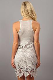 Design Recipe Champagne Lace Dress - Front full body