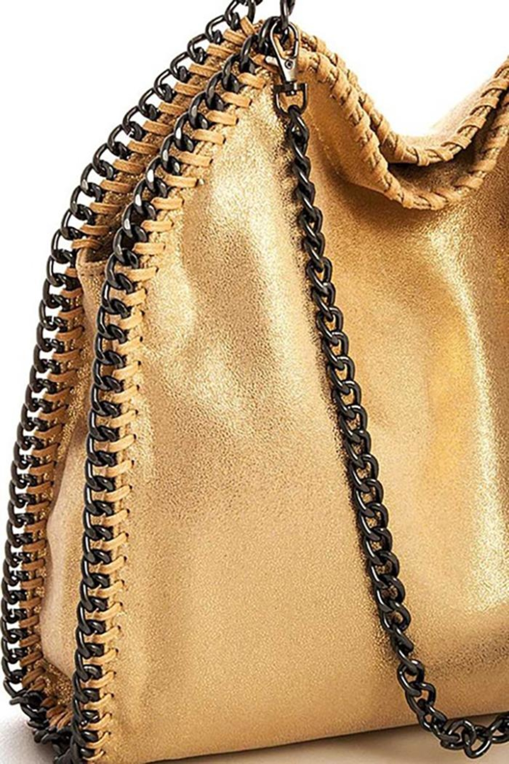 Nadya's Closet Designer Chain-Accent Tote - Front Full Image
