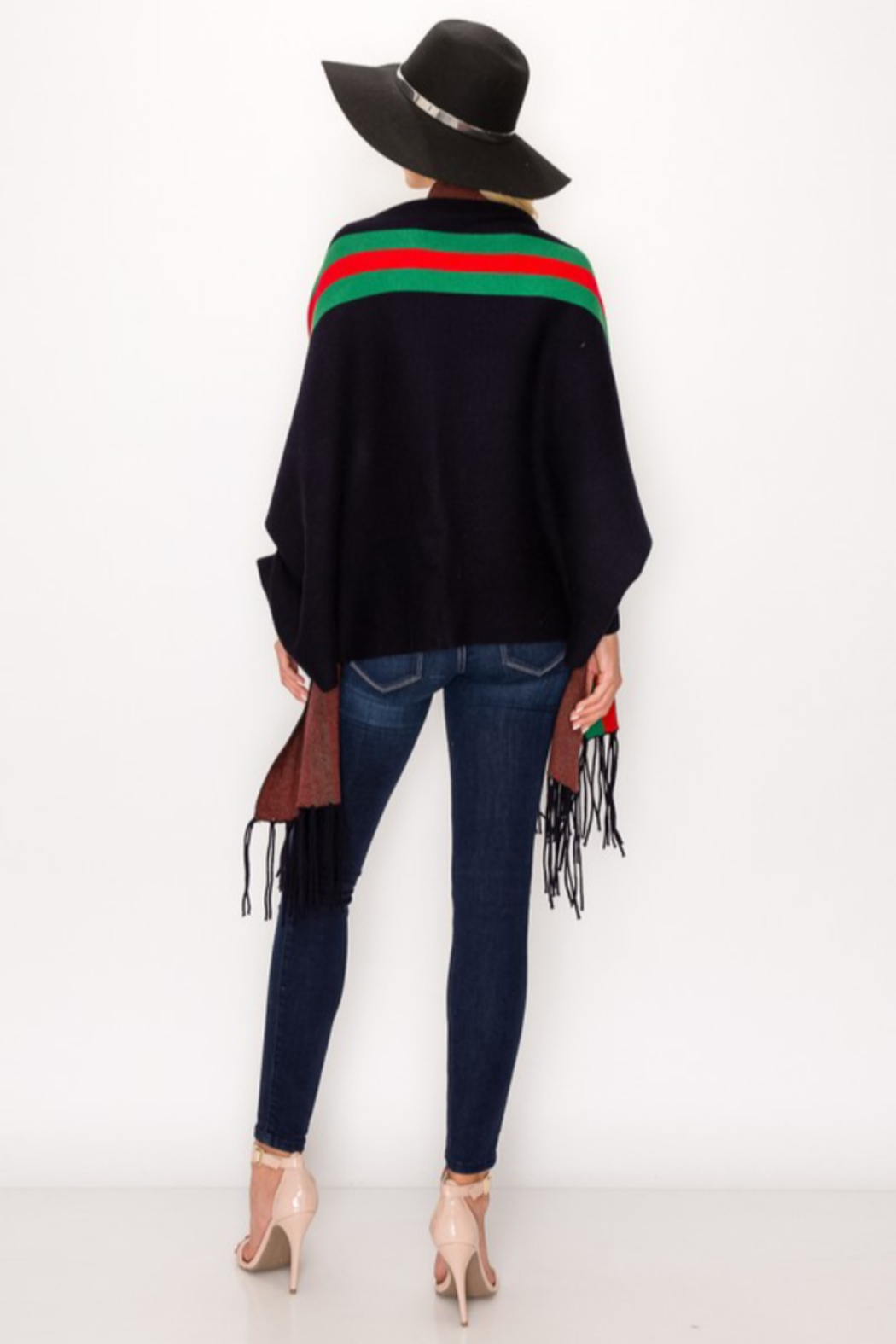 Love & Repeat Designer Inspired Poncho - Side Cropped Image