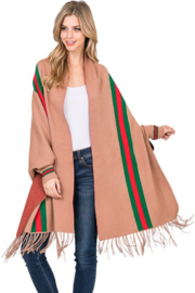 Love & Repeat Designer Inspired Poncho - Front cropped