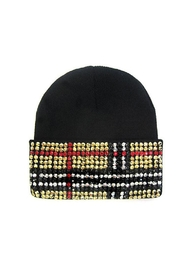 Lets Accessorize Designer-Inspired Rhinestone Beanie - Product Mini Image