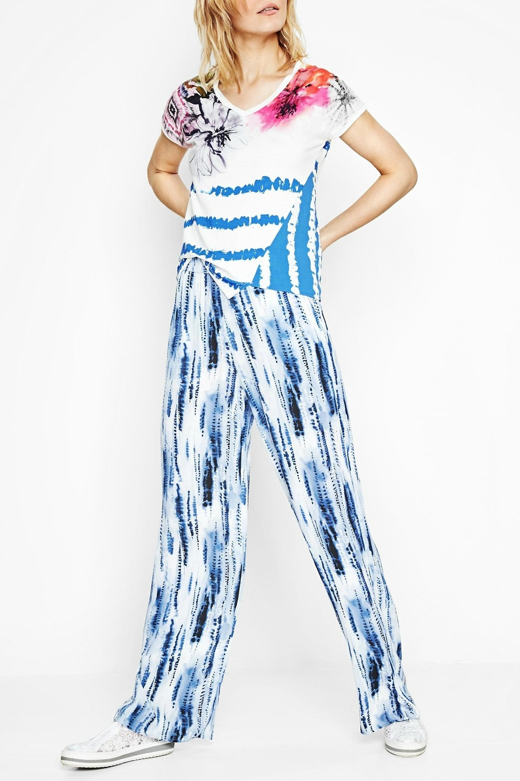 DESIGUAL Abstract Striped Tee - Side Cropped Image