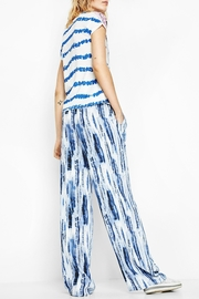 DESIGUAL Abstract Striped Tee - Back cropped